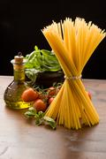 ingredients for italian pasta - stock photo