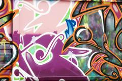 Colorful segment of a graffiti in spain Stock Illustration