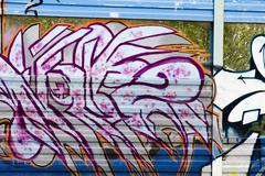 Graffiti wall urban art hip hop background Stock Illustration