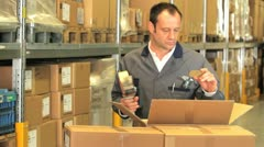 warehouseman commission packing 1 - stock footage