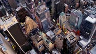 Aerial view New York city skyscrapers, New York  Stock Footage