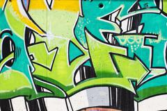 Street art, urban grafitti on wall Stock Illustration