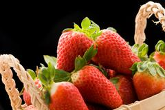 Stock Photo of strawberries inside a basket