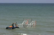 Stock Video Footage of Lifeboat & amphibious tractor
