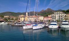 Boats in porto azzurro, elba island Stock Photos