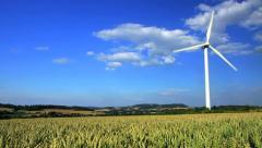 wind energy / wind power / wind turbine - stock footage