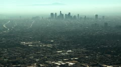 Aerial, Los Angeles Smog - stock footage