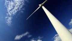 Wind energy / wind power / wind turbine Stock Footage