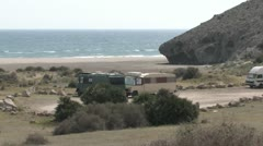 Dunes at Coast of Andalucia in Spain Stock Footage