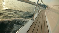 Stock Video Footage of Speedboat Deck