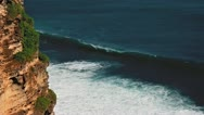 Stock Video Footage of Uluwatu cliff loop