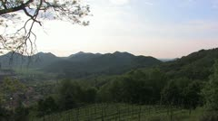 Wineyards in Chianti, Italy Stock Footage