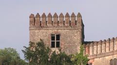 Italian Cities, Castle in Veneto Stock Footage