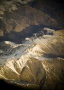 aerial mountains - stock photo