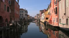 Canal in Chioggia, Italy Stock Footage