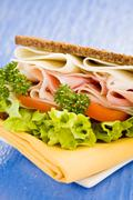 Stock Photo of cheese and ham sandwich