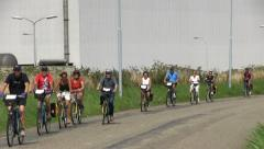 Cyclists on a sunny day - stock footage