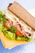 cheese and ham sandwich - stock photo