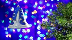 New Year decorations bell Stock Footage