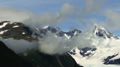 Stock Video Footage of Rugged Peaks Billings Glacier timelapse slower