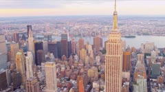 Aerial view Empire State Building, New York  Stock Footage