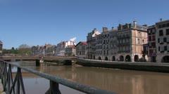 Bayonne, France Stock Footage