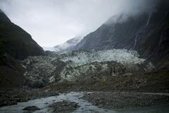 franz joseph glacier - stock photo