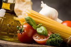 Ingredients for italian pasta 2 Stock Photos
