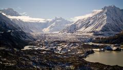 Glacial mountains Stock Photos