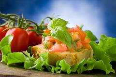 Stock Photo of bruschetta - appetizer