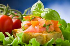 Bruschetta - appetizer Stock Photos