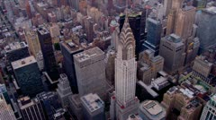 Aerial view Chrysler Building, Manhattan, New York  Stock Footage