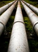 Massive pipes Stock Photos