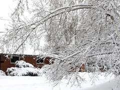 Jälkeen lumimyrsky Kuvituskuvat
