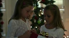 A wonderous Christmas surprise Stock Footage