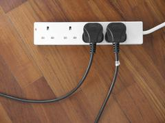 Stock Photo of british plug socket
