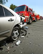 Stock Photo of Car accident on the street
