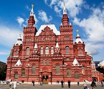 museum of history on red square in moscow - stock photo