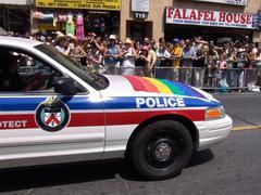 Ontario police car on  toronto pride parade Stock Photos