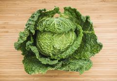 Head of savoy cabbage Stock Photos
