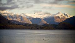 mountain dawn - stock photo