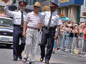 Chiefs of the ontario provincial police marching in toronto pride Stock Photos