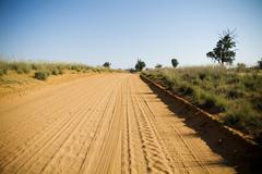 outback road - stock photo