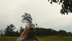 Dove Hunting Hunter - stock footage
