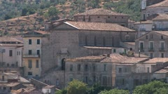 Pitoresque traditional small town in Calabria, Italy - stock footage