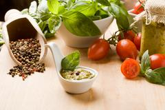 Italian pesto Stock Photos