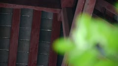 Chinese ancient building,Roof tiles. Stock Footage