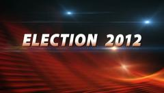 ELECTION 2012 Breaking News Bumper Stock Footage