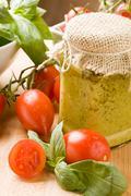 italian pesto - stock photo
