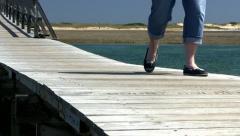 Boardwalk over marsh 5 - stock footage